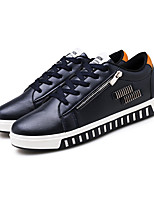 Men's Sneakers Summer Fall Ankle Strap Leatherette Outdoor Casual Lace-up Navy Blue Black White