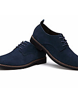 Men's Oxfords Spring Comfort Suede Tulle Casual Blue Brown Black