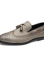 Черный Серый Желтый-Для мужчин-Повседневный-Микроволокно-На низком каблуке-Удобная обувь-Мокасины и Свитер