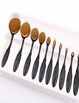 1set 10PCS Makeup Brush Set Synthetic Hair Professional Synthetic Face Eye Lip