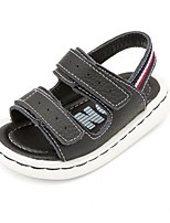 Boys' Sandals Summer First Walkers PU Casual Flat Heel Black White