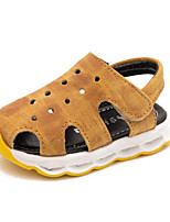 Girls' Sandals Summer First Walkers Leatherette Casual Flat Heel Yellow Gray