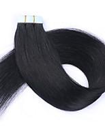 Лента в выдвижениях человеческих волос 16 18 20 22 24 дюйма 20pcs 30g-70g установили шелковистые прямые волосы утка кожи людские remy