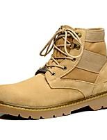Темно-русый-Для мужчин-Для прогулок Для офиса Повседневный Для вечеринки / ужина Work & Safety-ЗамшаУдобная обувь-Ботинки