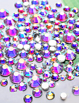 Crystal AB Nail Art Rhinestones1440pcs/lot SS4 DMC Glitter Top Quality Flatback Non Hotfix DIY Garment Nail Decoration Tool