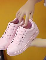 Women's Sneakers Spring Comfort PU Casual Ivory Blushing Pink White