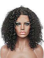 Fashion Brown Short Afro Kinky Curly Lace Front Wig for Black Women