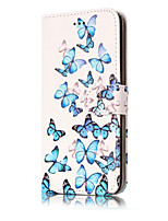 For Huawei P10 Lite P10 PU Leather Material Orchid Pattern Painted Phone Case P8 Lite (2017) P9 Lite P8 Lite