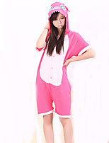 Kigurumi Pajamas Monster Leotard/Onesie Festival/Holiday Animal Sleepwear Halloween Fuschia Solid Cotton Kigurumi For Unisex Carnival