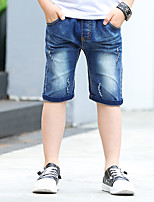 Boys' Summer Blue Pants Short Jeans (3-12 Years Old)