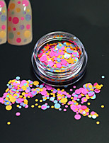 1Bottle Fashion Sweet Colorful Round Slice Nail Art Glitter Round Paillette Decoration Nail Art DIY Beauty Slice P31