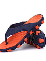 Оранжевый Серый Красный Зеленый-Для мужчин-Для прогулок Повседневный-ПВХ-На плоской подошве-Удобная обувь-Тапочки и Шлепанцы