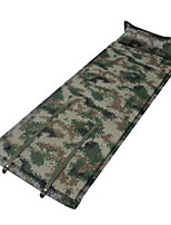 Portable Inflated Mat Camouflage Camping Traveling Oxford