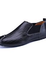 Loafers masculinos&Slip-ons primavera queda conforto couro natural