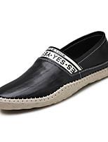 -Для мужчин-Для прогулок Для офиса Повседневный-Кожа-На плоской подошве-Удобная обувь-Мокасины и Свитер
