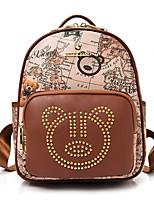 Women Backpack PU All Seasons Formal Casual Outdoor Office & Career Shopping Bucket Zipper Blue Brown Beige