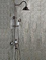 Contemporain Antique Décoration artistique/Rétro Set de centre Cascade Douche pluie Douchette inclue Avec spray démontable with  Soupape