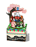 Spieluhr Quadratisch Neuheiten & Gag-Spielsachen Holz Unisex