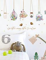Botanique Mode Floral Stickers muraux Autocollants avion Autocollants muraux décoratifs,Papier Matériel Décoration d'intérieurCalque