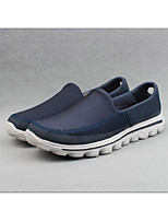 Men's Sneakers Spring Moccasin Comfort Light Soles Tulle Casual Blue Gray Black