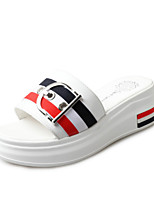 Women's Slippers & Flip-Flops Summer Creepers Leatherette Outdoor Dress Casual Creepers Buckle Black White Walking