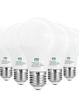 5W E26/E27 Lâmpada Redonda LED 10 SMD 2835 400-500 lm Branco Quente Branco Decorativa AC100-240 V 5 pçs