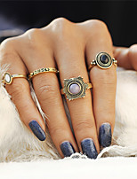 4 PCS/Set Fashion Vintage Bohemian Turkish Midi Ring Set Steampunk Round Ring Knuckle Rings Women Anel Joint Ring Mother's Day Gift