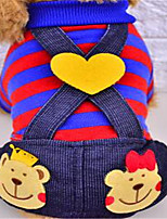Dog Clothes/Jumpsuit Dog Clothes Spring/Fall Stripe Cute