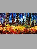 Handgemalte Landschaft Horizontal,Ländlich Europäischer Stil Ein Panel Leinwand Hang-Ölgemälde For Haus Dekoration