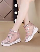 Women's Flats Spring Comfort PU Casual Blushing Pink Silver Black