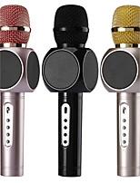 no Sem Fios Microfone de Karaoke USB Preto Rosa Dourado
