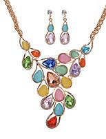Set de Bijoux Collier / Boucles d'oreilles Nuptiales Parures Cristal Strass Pendant Mode Bohême Bijoux de Luxe Mariée ElegantCristal