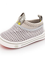 Girls' Baby Loafers & Slip-Ons Moccasin Tulle Summer Casual Moccasin Flat Heel White Gray Ruby Blushing Pink Flat