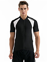 Cycling Jersey Unisex Short Sleeve Bike Sweatshirt Jersey Tops Breathable Back Pocket Sweat-wicking Polyester Classic SummerExercise &