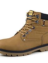 -Для мужчин-Для прогулок Для офиса Повседневный-Дерматин-На плоской подошве-Удобная обувь Светодиодные подошвы-Ботинки
