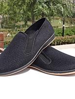 Loafers masculinos&Slip-ons primavera conforto tulle casual preto