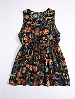 Girl's Casual/Daily Floral Print Dress,Cotton Summer