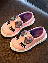 Белый Пурпурный Розовый-Девочки-Для прогулок Повседневный-Дерматин-На низком каблуке-Обувь для малышей-На плокой подошве