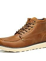 Кофейный-Для мужчин-Для прогулок Для офиса Повседневный Для вечеринки / ужина Work & Safety-Наппа LeatherУдобная обувь-Ботинки