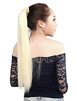 Neitsi 1Pcs 22'' 115g Striaght Wrap Around Ponytail Hair Extensions Synthetic Bleach Blonde