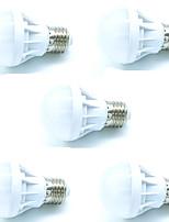 5W E27 Lâmpada Redonda LED A60(A19) 9 SMD 3528 450 lm Branco Frio Decorativa AC 220-240 V 5 pçs