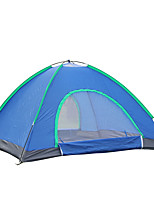 2 persons Tent Double Fold Tent One Room Camping Tent Fiberglass Oxford Waterproof Breathability Ultraviolet Resistant Windproof Foldable-