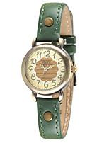 Женские Модные часы Японский Кварцевый / Кожа Группа Повседневная Красный Зеленый