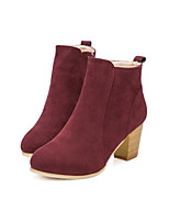Women's Boots Fall Winter Club Shoes Suede Outdoor Office & Career Casual Chunky Heel Split Joint Walking