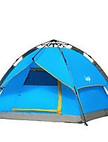 3-4 Pessoas Tenda Duplo Um Quarto Barraca de acampamentoCampismo Viajar-Azul
