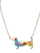 Femme Homme Pendentif de collier Bijoux Forme d'Animal Original Logo Pendant Animal Personnalisé Bijoux de Luxe Arc-en-ciel Bijoux Pour