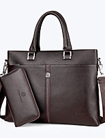 Men PU Formal Casual Event/Party Wedding Office & Career Bag Sets Brown Black