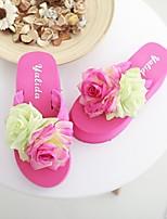 Damen-Loafers & Slip-Ons-Lässig-PULeuchtende Sohlen-Weiß Fuchsia Rosa