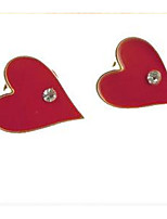 Fashion And Personality Poker Hearts Personality Earrings Accessories Diamond Earrings