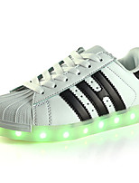Girls Boys' Sneakers Summer Fall Light Up Shoes First Walkers Luminous Shoe PU Outdoor Athletic Casual Low Heel LED